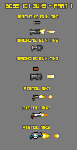 Boss 101 Weapons - Part 1a